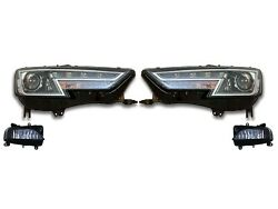 Left And Right Genuine Fog And Bi-xenon Headlights Kit For Audi A4 Quattro 16 S-line