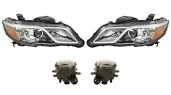 Left And Right Genuine Headlights Headlamps Halogen And Fog Lights Kit For Acura Rdx