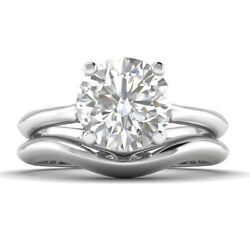 0.8ct D-si1 Diamond Vintage Engagement Ring 14k White Gold Any Size
