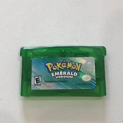 Pokemon Emerald Gba Authentic Great Condition Dry Battery Game Still Works