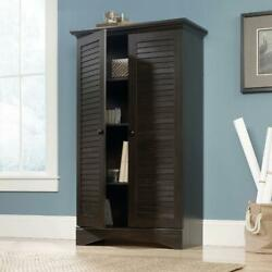Tall Wooden Pantry Storage Cabinet Kitchen Dining Room Furniture Antiqued Paint