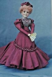18antique French Fashion/gibson Girl Lady Doll@victorian Blouse Dress Pattern