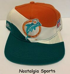 Vintage Miami Dolphins Apex One Snapback Swirl Hat Nfl Proline New Old Stock