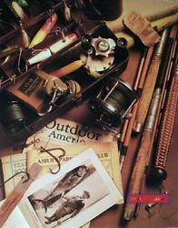Fishing Ii Fly Fishing Antique Rods, Reels And Lures Poster 22 X 28