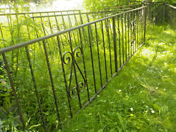 Antique Wrought Iron Victorian Fence Total Length 60 Ft Ornate Twisted Iron