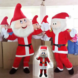 Christmas Santa Claus Mascot Father Costumes Cosplay Adults Clothing Fancy Dress