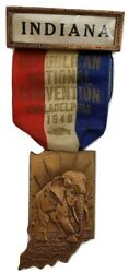 1946 Indiana State Republican Convention Delegate Badge