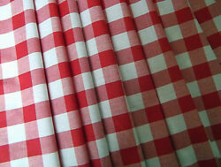 Red Check Gingham Vw Camper Van Curtains T2 T4 T5 T25 Orders Welcome Lined