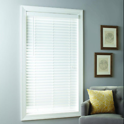 Better Homes And Gardens 2-inch Cordless Faux Wood Blinds, White, Multiple Sizes