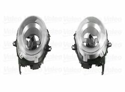 Pair Set Of 2 Front Bi-led With Clear Drl Headlights Lamps Valeo For R55 R56 R57