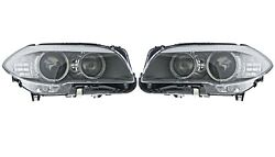 Pair Set Of 2 Front Xenon W/ Ahl Headlights Lamps Hella For Bmw F10 5-series M5