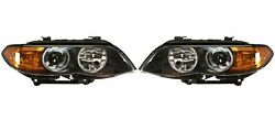 Pair Set Left And Right Genuine Bi-xenon Headlights Amber Turn Signals For Bmw E53