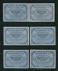 1946 Rz1-18 Rectification Tax 1andcent To 2000 Complete Set Very Rare Cat 1850+
