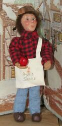 Byers Choice Kindle Johnny Appleseed With Apple And Copper Pot  Read