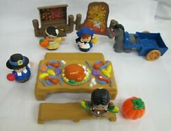 New 2006 Fisher Price Little People Thanksgiving Celebration Pilgrims Indians