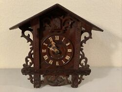 Early Vintage Antique Hand Carved Black Forest Ornate Cuckoo Clock