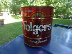 Folgers Metal Coffee Can 39oz For All Coffee Makers Aroma Roasted Big Lebowski