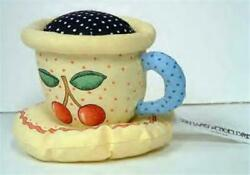 Nm Cherry Teacup Pin Cushion By Mary Engelbreit New Never Used
