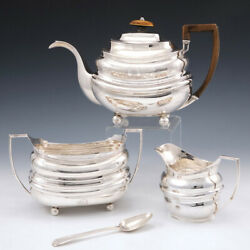 Sterling Silver Tea Set By Dorothy Langlands Of Newcastle 1808