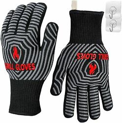 Bbq Gloves 1472 F Heat Resistant Grilling Gloves Silicone Non Slip Oven Mitts