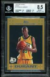 Kevin Durant Rookie Card 2007-08 Topps Gold 112 Bgs 8.5 8.5 8.5 9 9