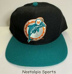 Vintage 90's Miami Dolphins Starter 100 Wool Snapback Hat Black New Old Stock