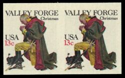 United States 1729a ' George Washington At Valley Forge ' Imperf Pair' Pa67220