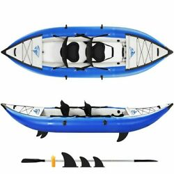 Raft Canoe Kayak Set Inflatable Fishing Rowing Boat With Paddle And Air Pump
