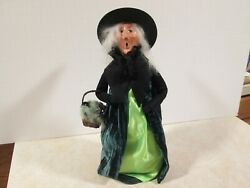 Byers Choice Spooktacular 2018 Halloween Green Spider Witch With Basket