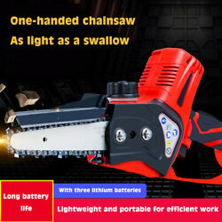 Electric Chain Saw Handheld Logging Saw Outdoor Woodworking Speed Gardening Saw