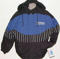Vintage 90s Nba Orlando Magic Apex One Jacket Curve Back Patch Nwt New Old Stock