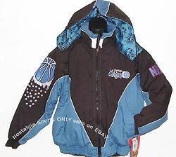 Vintage 90s Orlando Magic Proplayer Jacket Full Zip Back Patch New Old Stock Lge