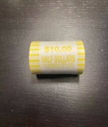 One 1 Unsearched Half Dollar Roll - Bank Sealed -possible 40 90 Silver Coins
