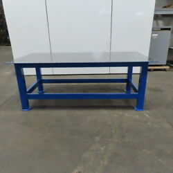 3/8 Thick Top Steel Fabrication Welding Layout Table Work Bench 96x48x36-1/2