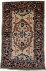 Rare Collectible Hand Knotted Ivory 8x12 Vintage Oriental Rug Home Decor Carpet