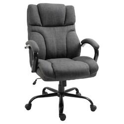 Vinsetto Ergonomic Big And Tall Fabric Office Chair With Wheels Padded Wide Sea