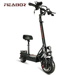 Electric Scooter With Seat Foldable Fat Tire Electronic Kick Escooter E 1200w
