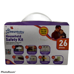 Dreambaby Household Safety Kit Baby Proof Safe Infant 26 Pieces Outlet Cover