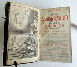 1772 Bible In German Antique Leather Bound Martin Luther Old And New Testaments
