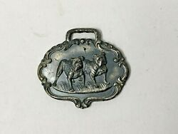Vintage Coca Cola Watch Fob Sterling Silver 5 Cent Bulldog Advertising Antique