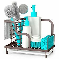 Favothings Kitchen Sink Caddy Organizer Farmhouse Sponge Holder With Drain Pa...