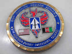 76th Infantry Brigade Separate Indiana Army National Guard Challenge Coin