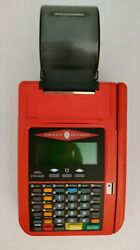 Hypercom T7plus Credit Card Machine Without Ac Adapter Power Supply Red