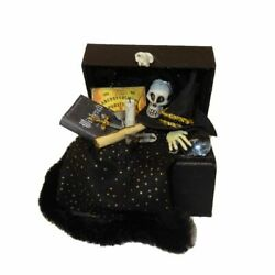 Dollhouse Halloween Magic Witch Wizard Filled Trunk Haunted House Miniatures Skl