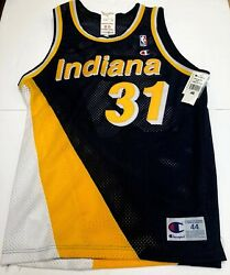 Nwt Vtg Reggie Miller Authentic Champion Indiana Pacers Jersey Hof Sewn Made Usa