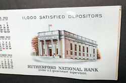 1932 Rutherford New Jersey National Bank Celluloid Advertising Blotter Cover