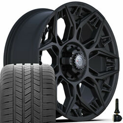 20in 4play Wheel Set For Ram Chevy Gmc Ford And 275/55r18 Goodyear 4ps60