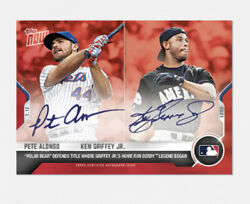 2021 Topps Now 505b Pete Alonso / Ken Griffey Jr On-card Auto To 10