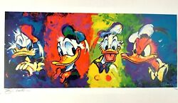 Disney Eric Robison The Four Faces Of Donald Duck Le Lithograph Signed 105 / 300