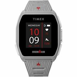 Timex Ironman R300 Gps Smartwatch With Heart Rate 41mm – Light Gray With Sili...